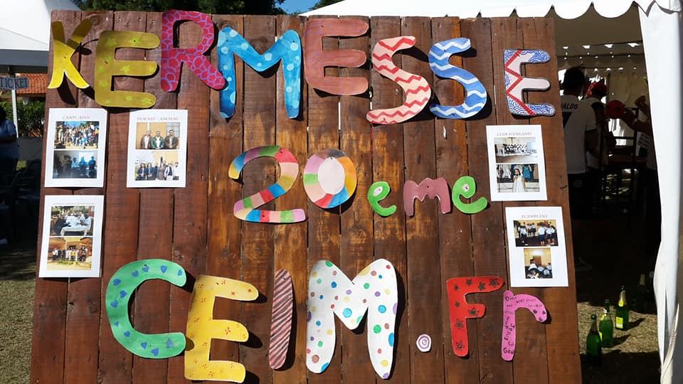 Panneau de la Kermesse du 20ème anniversaire de la CEIM Francophone